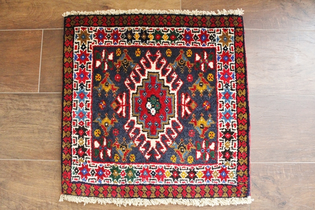 【送料無料】ヤラメのミニ絨毯(約40×40cm) 135