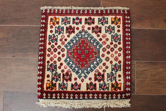 【送料無料】ヤラメのミニ絨毯(約40×40cm) 143