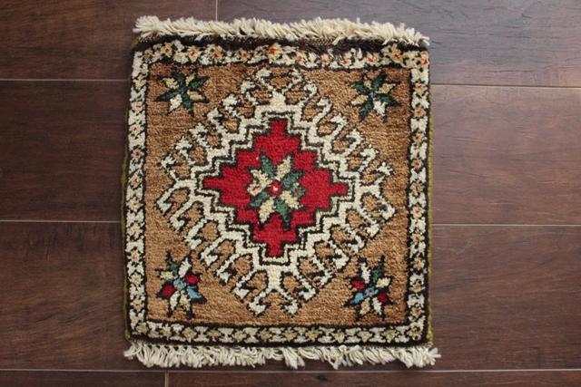【送料無料】ヤラメのミニ絨毯(約30×30cm) 194-2