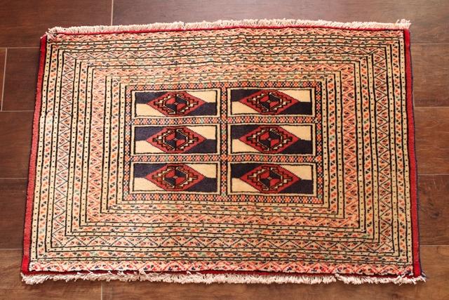 【送料無料】トルキャマン絨毯(54×83cm) 43-2