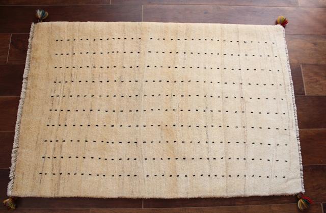 遊牧民のじゅうたん ギャッベ(ラグサイズ小 114×76cm) 8244