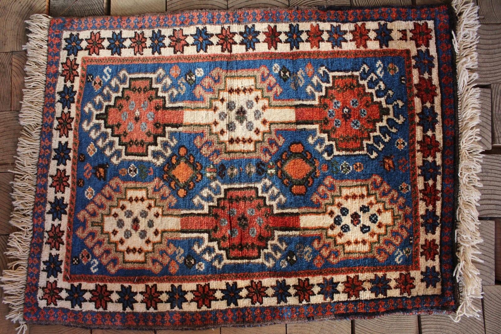 【セミ・オールド】ヤラメ絨毯(玄関マットサイズ中) 26401