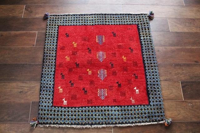 遊牧民のじゅうたん ギャッベ(正方形 92×89cm) 1000