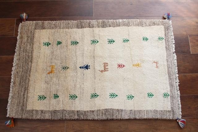 遊牧民のじゅうたん ギャッベ(ラグサイズ小 114×72cm) 1059