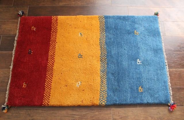 遊牧民のじゅうたん ギャッベ(ラグサイズ小 125×79cm) 1065