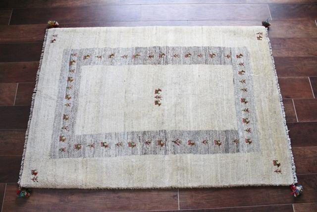 遊牧民のじゅうたん ギャッベ(ラグサイズ中 145×103cm) 120