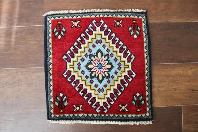 【送料無料】ヤラメのミニ絨毯(約40×40cm) 137