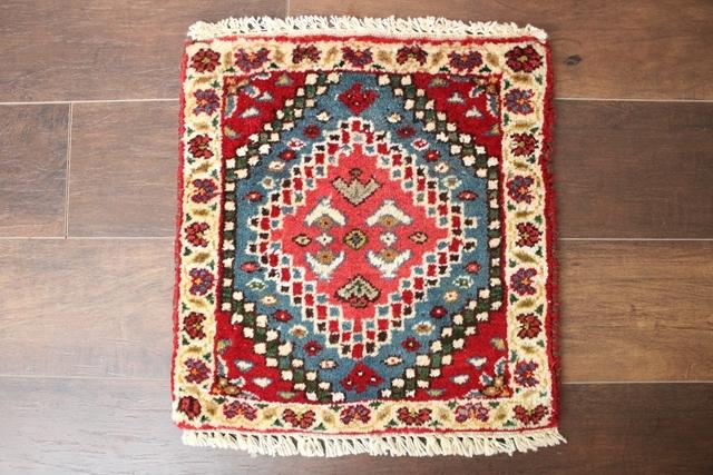 【送料無料】ヤラメのミニ絨毯(約40×40cm) 139