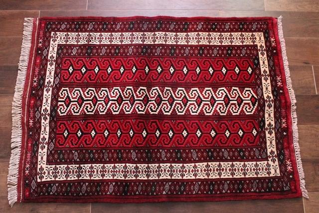 【送料無料】バルーチ族のじゅうたん トライバルラグ(ラグサイズ小 約117×88cm) 14