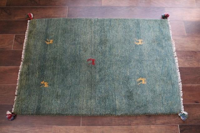 遊牧民のじゅうたん ギャッベ(ラグサイズ小 123×83cm) 1500