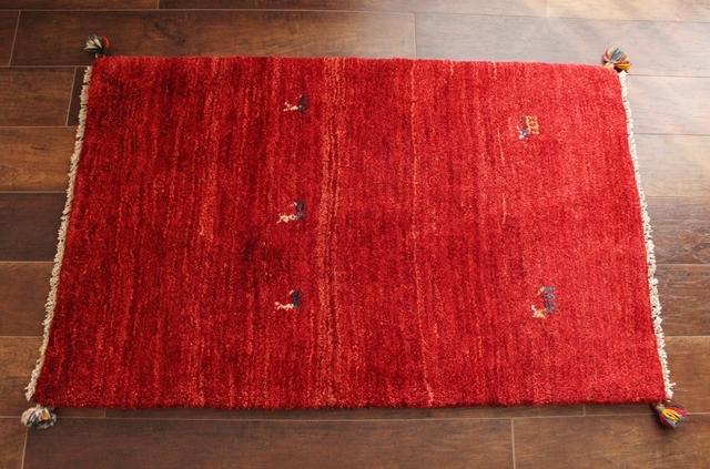 遊牧民のじゅうたん ギャッベ(ラグサイズ小 120×73cm) 1502