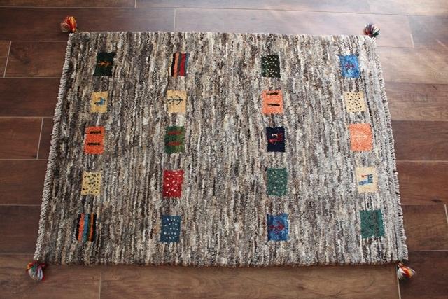遊牧民のじゅうたん ギャッベ(ラグサイズ小 113×82cm) 1512