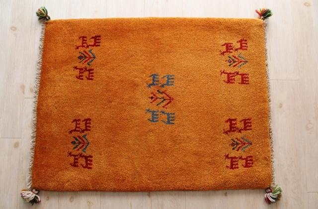 遊牧民のじゅうたん ギャッベ(玄関マットサイズ大 86×65cm) 161