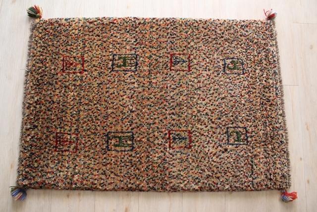 遊牧民のじゅうたん ギャッベ(玄関マットサイズ大 94×62cm) 163