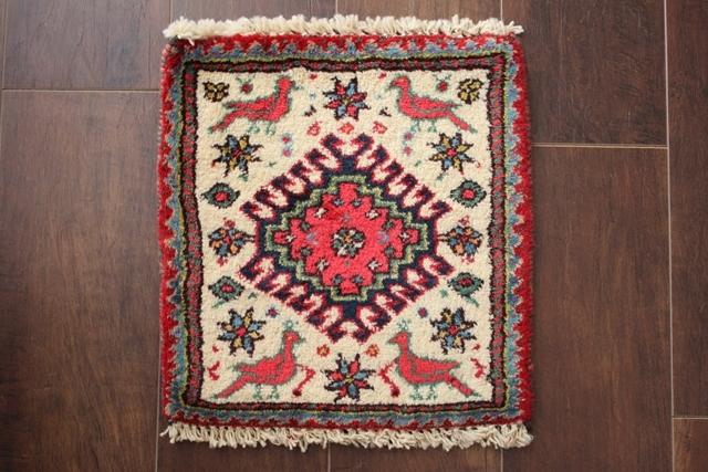 【送料無料】ヤラメのミニ絨毯(約30×30cm) 196