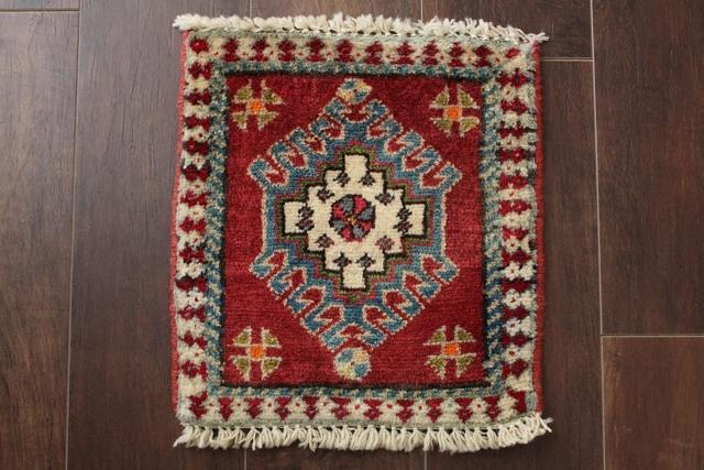 【送料無料】ヤラメのミニ絨毯(約30×30cm) 198