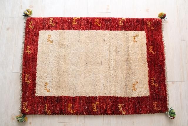 遊牧民のじゅうたん ギャッベ(玄関マットサイズ大 86×59cm) 20110