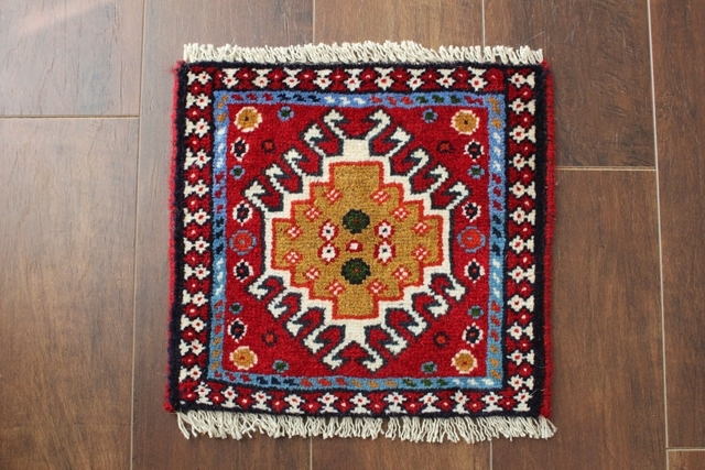 【送料無料】ヤラメのミニ絨毯(約30×30cm) 206