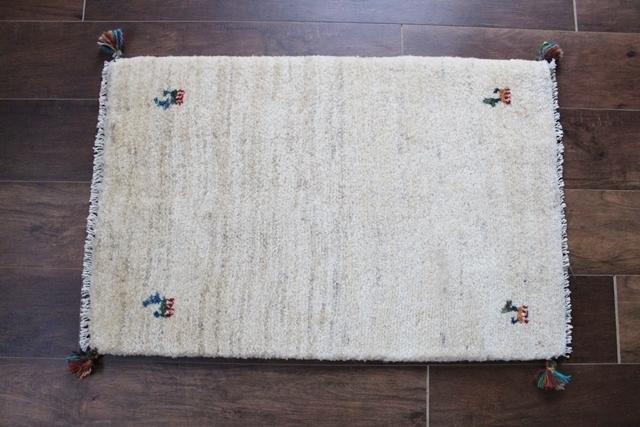 【送料無料】遊牧民のじゅうたん ギャッベ(玄関マットサイズ中 78×52cm) 210