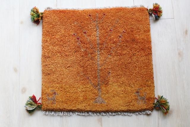 遊牧民のじゅうたん ギャッベ(約40×40cmサイズ) 2769