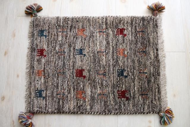 遊牧民のじゅうたん ギャッベ(玄関マットサイズ小 55×42cm) 2784