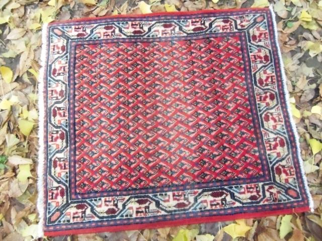 【セミ・オールド】サラバンド絨毯(玄関マットサイズ中) 3395