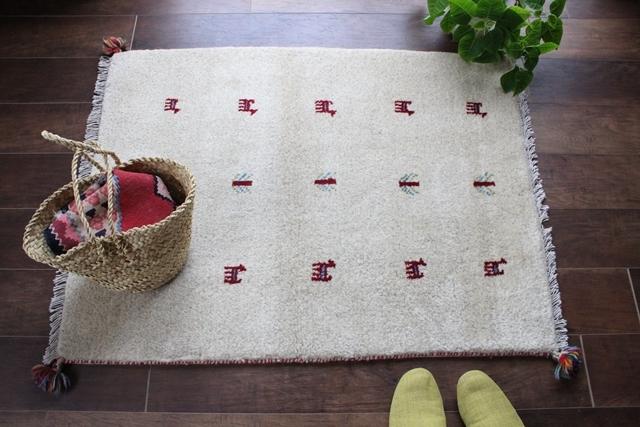 遊牧民のじゅうたん ギャッベ(ラグサイズ小 105×79cm) 4200