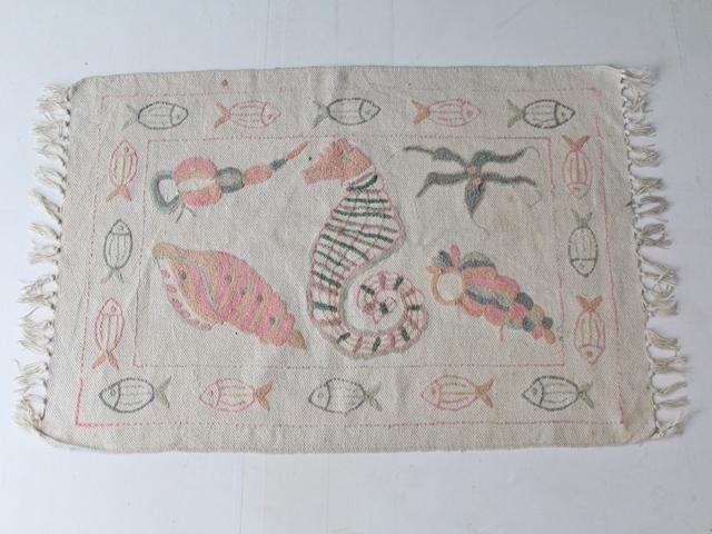 ★かわいい★ヴィンテージ・コットン・ラグ(92×56cm) 515