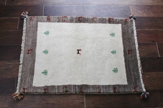 遊牧民のじゅうたん ギャッベ(ラグサイズ小 104×75cm) 5215