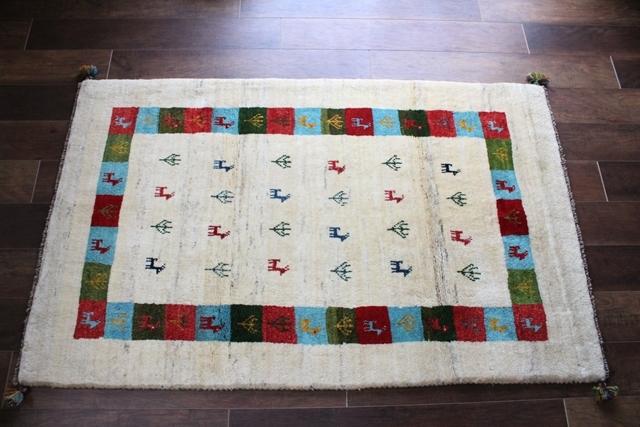 遊牧民のじゅうたん ギャッベ(ラグサイズ中 162×100cm) 538-2
