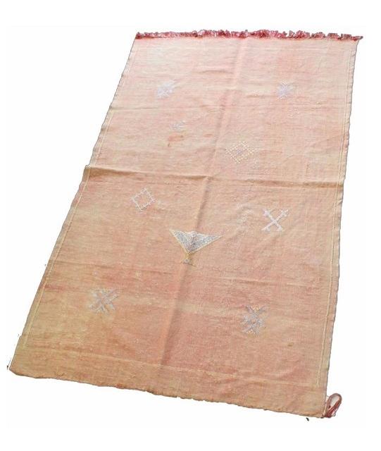 シャビーシックなコットン・ラグ(オールドキリム) 148×92cm 541