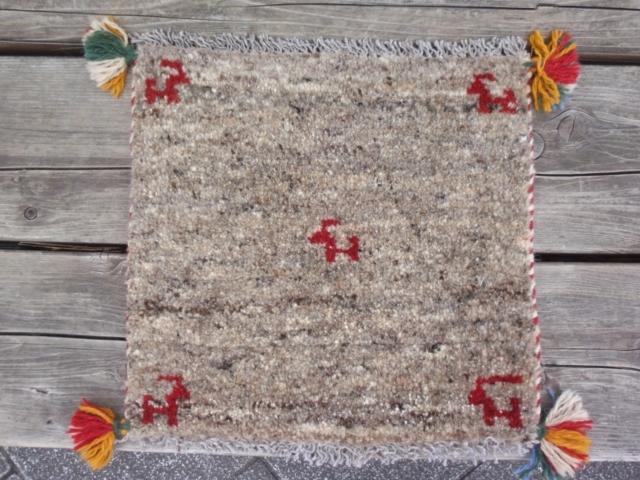 ギャッベ(正方形ミニサイズ) 遊牧民のじゅうたん 5415