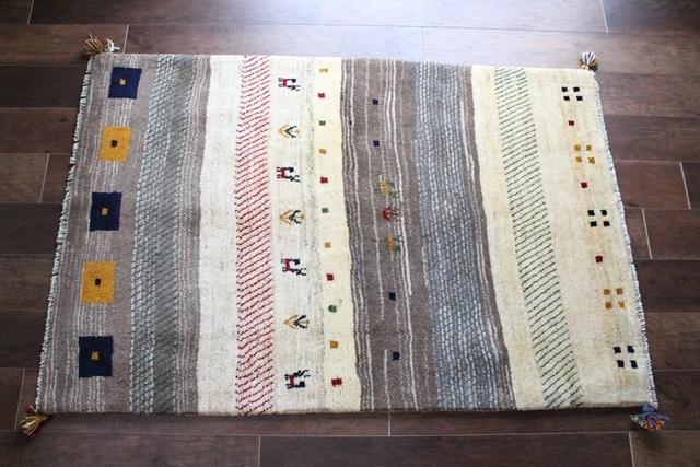 遊牧民のじゅうたん ギャッベ(ラグサイズ中 151×99cm) 543-2