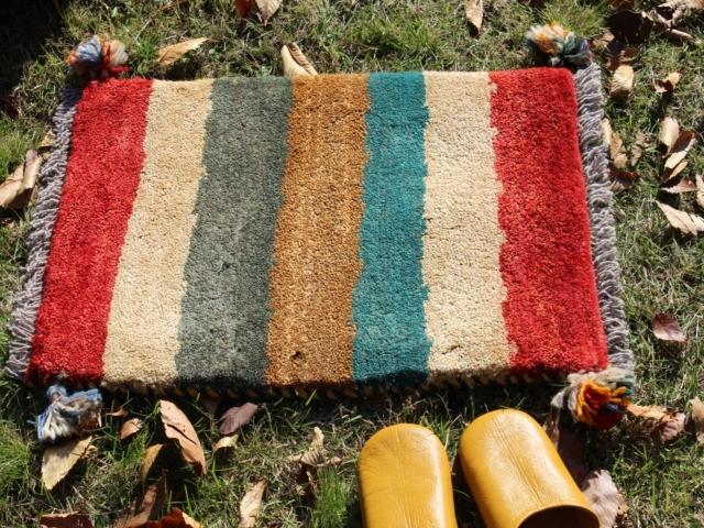 遊牧民のじゅうたん ギャッベ(玄関マットサイズ小 約60×40cm) 6178