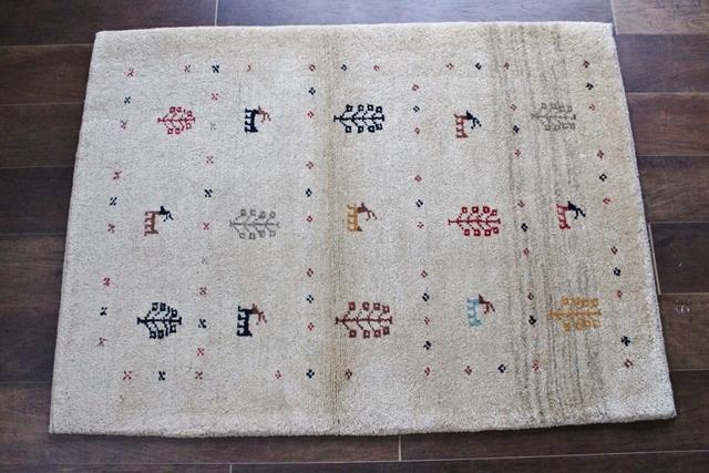 遊牧民のじゅうたん ギャッベ(ラグサイズ小 116×86cm) 652120