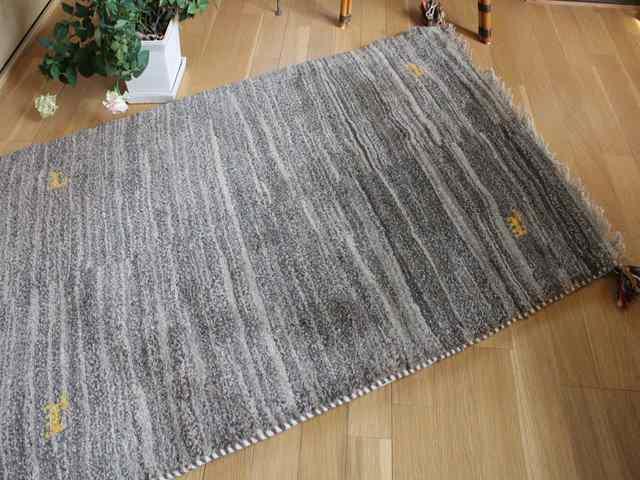 【上質】遊牧民のじゅうたん ギャッベ(ラグサイズ小 約127×77cm) 751