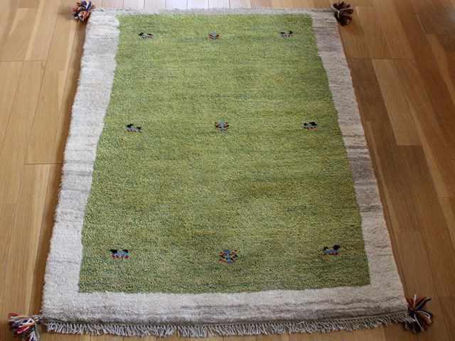 【上質】遊牧民のじゅうたん ギャッベ(ラグサイズ小 約123×86cm) 752
