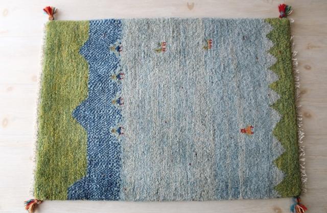 【送料無料】遊牧民のじゅうたん ギャッベ(玄関マットサイズ中 75×52cm) 81