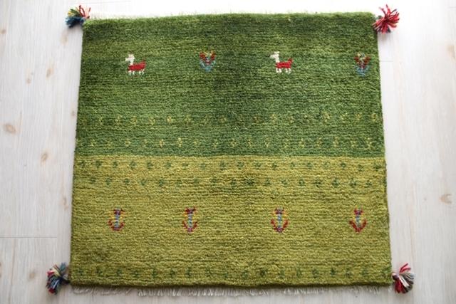【送料無料】遊牧民のじゅうたん ギャッベ(玄関マットサイズ中 60×68cm) 9988