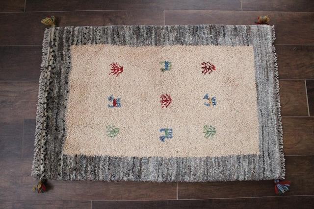 遊牧民のじゅうたん ギャッベ(玄関マットサイズ大 89×61cm) 9999
