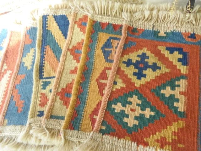 【高品質】ミニキリム(手織り) ZA536