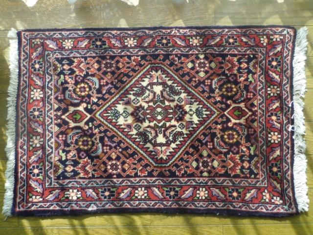 【トライバル・ラグ】ビジャール絨毯(玄関マットサイズ小) 5244
