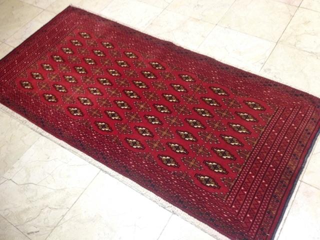 【セミ・オールド】トルキャマン絨毯(139×66cm) Y170