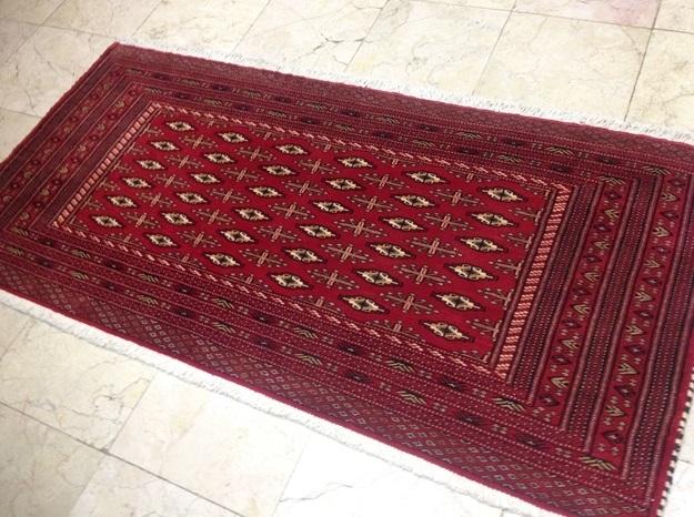 【セミ・オールド】トルキャマン絨毯(144×72cm) Y176