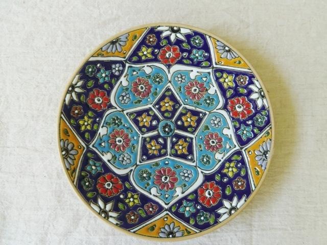 アバデー産 陶器平皿(中) ZA286