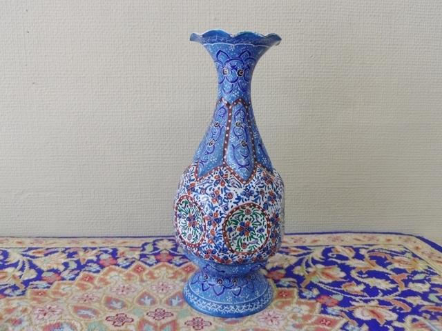 【伝統美術工芸品】ミーナーカーリー 花瓶 ZA325