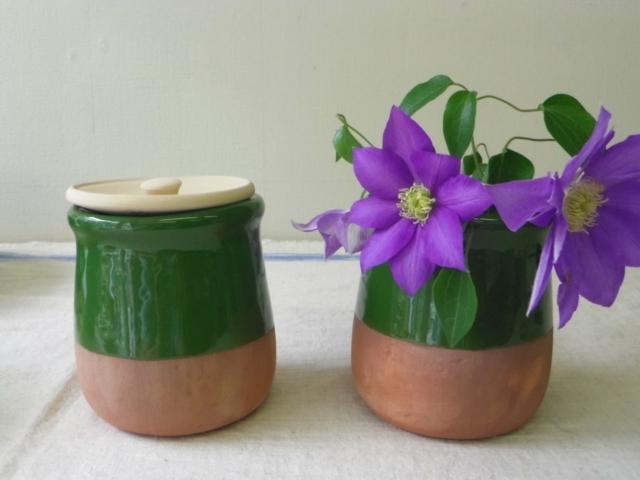 ペルシャ陶器のつぼ(小・取っ手なし) ZA435