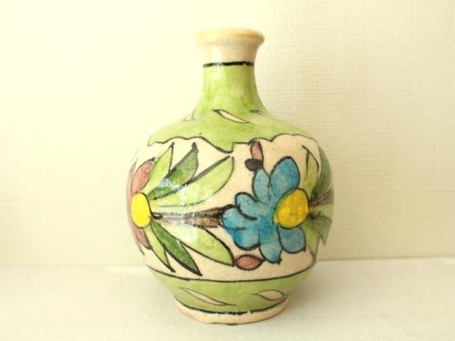 花模様 陶器の花瓶 ZA445
