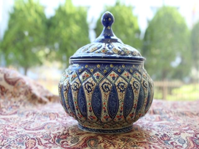 【伝統美術工芸品】ミーナーカーリー 壺(大)  ZA611