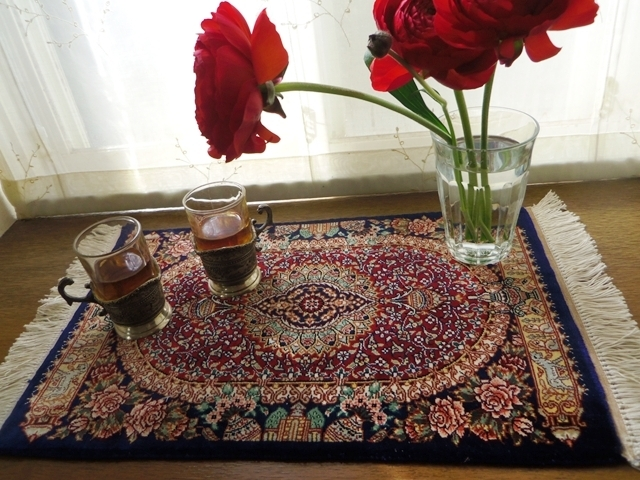 ペルシャ絨毯(クム シルク)